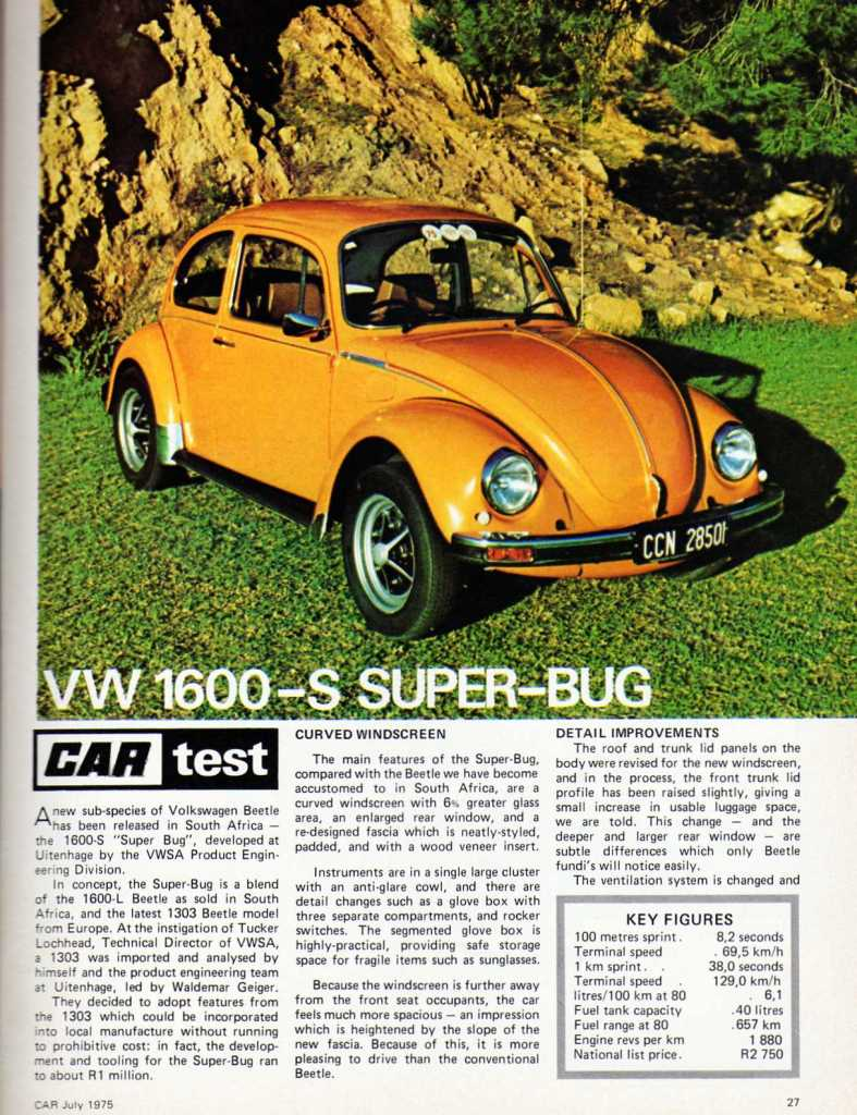 1302s 1600 Manufactured In South Africa Aircooled Vw Super Beetle Macpherson Strut Front End Exploded Diagram Posted Sun A 1600s Road Test I Scanned And While Ago It Will Probably Answer Lot Of Your Questions