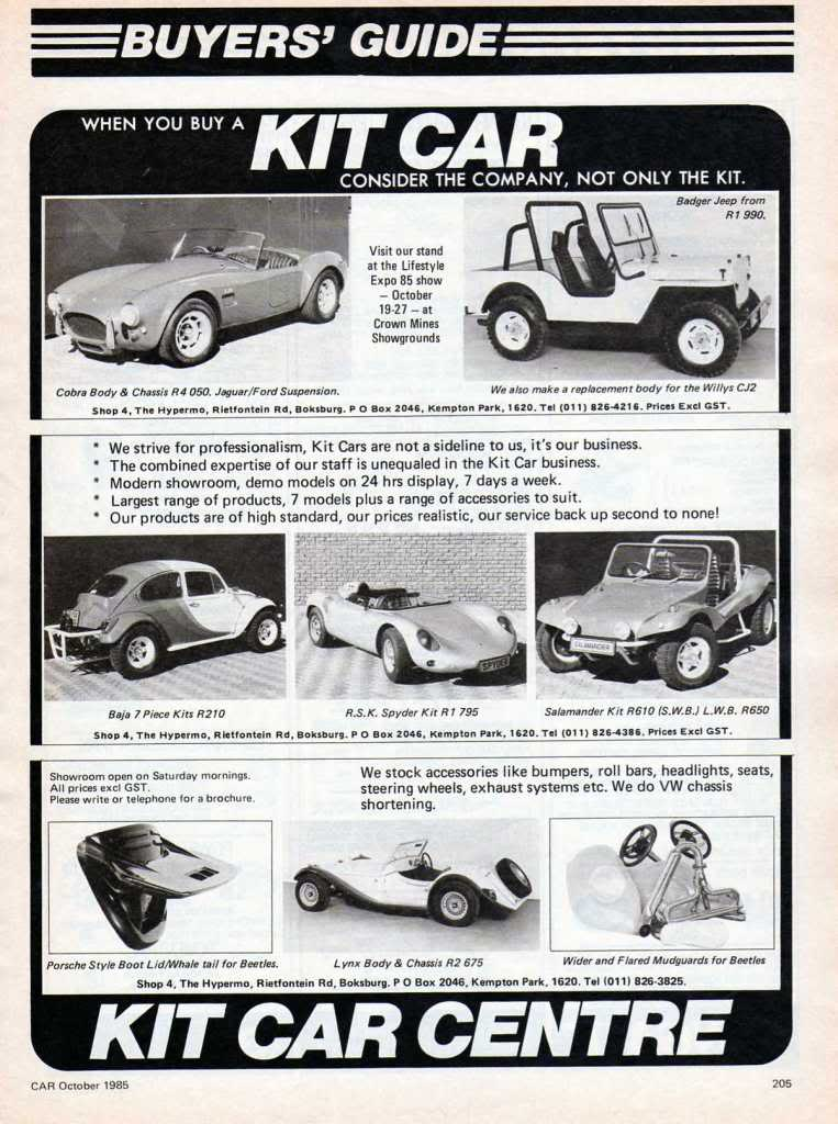 Kit Car Centre 1985 Aircooled Vw South Africa